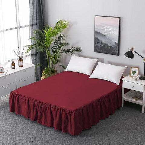 Soft Cotton Bed Skirt Cover Sheet Elastic Bedspread Bedding Home