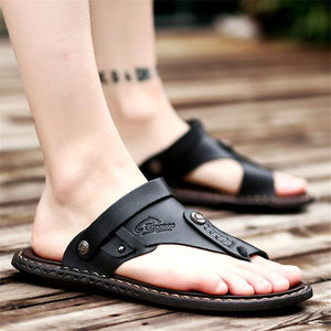 Men's Breathable Leather Beach Sandals