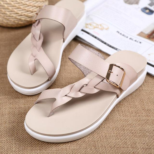 Women's Fashion Summer Buckle Flat Sandals