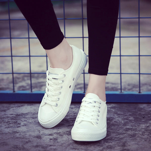 Comfortable Ladies Vulcanize Casual Canvas Shoes