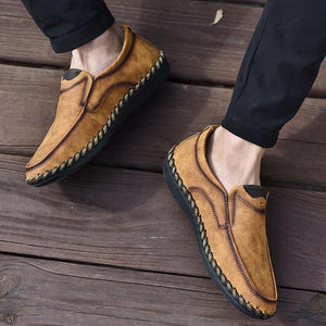 Spring Summer Men Casual Handmade Breathable Slip-On Loafers