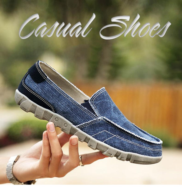 Summer Breathable Casual Men Plus Size Canvas Shoes