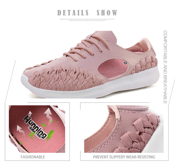 2018 Summer Breathable Lace Up Flats