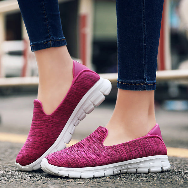 Lightweight Slip On Breathable Comfortable Female Walking Shoes