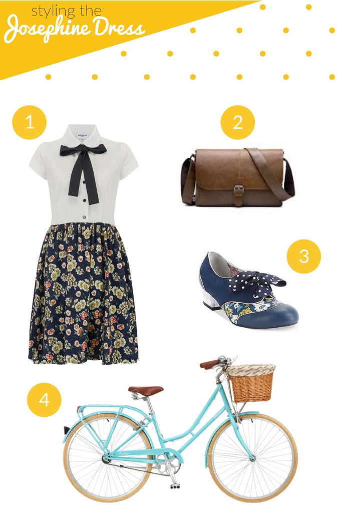 Vintage style tips: What to wear with the Josephine shirt dress