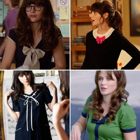 bow dresses zooey deschanel 500 days summer new girl retro fashion 1940s 1950s