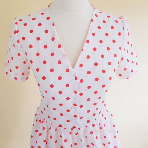 polka dot evelyn dress