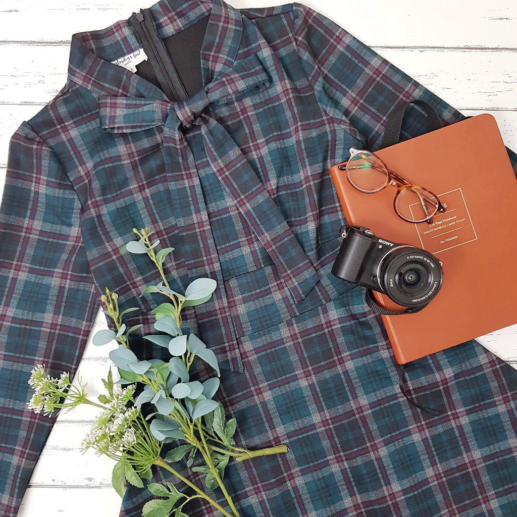 Lottie Dress in Tartan