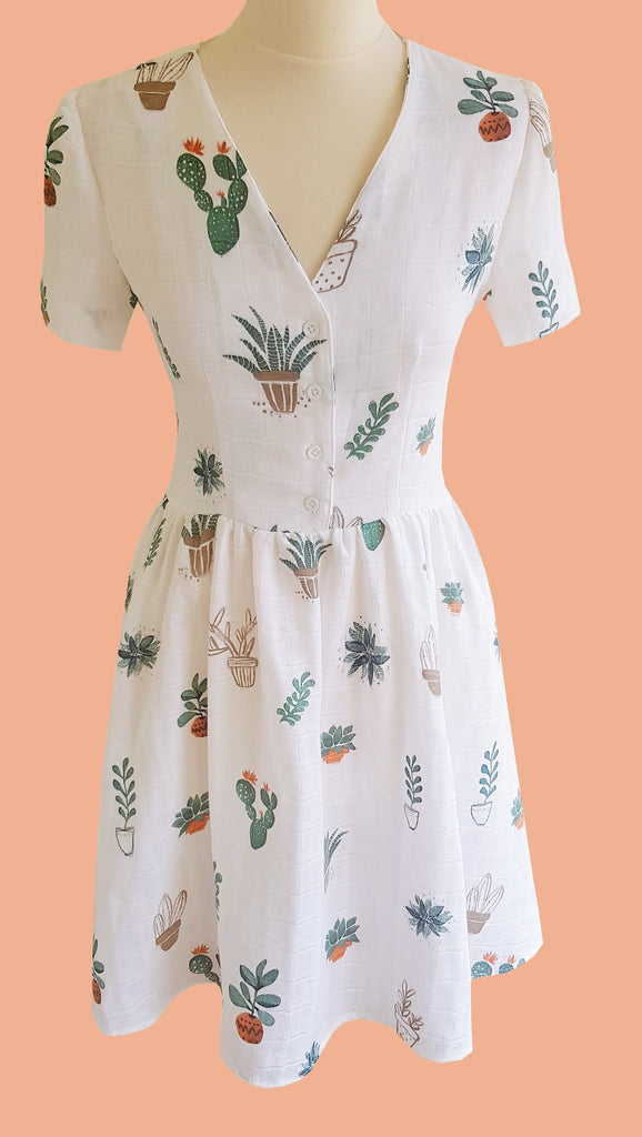 Cactus Print Evelyn Tea Dress