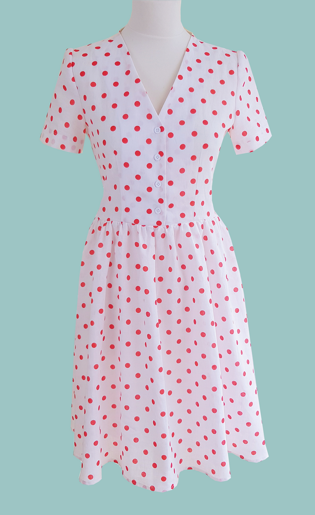 Polka Dot Evelyn Tea Dress