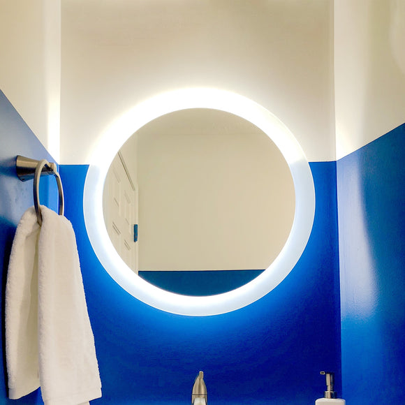 Shop Round Side-Lighted LED Mirrors