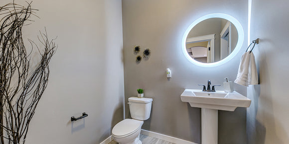Modern Led Lighted Wall Mounted Vanity Mirror Round Shape: LED Lighted Vanity Mirrors, Bathroom Mirrors, And Medicine