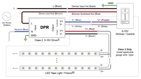 Connections for Standard and Dimmable Power Regulators ... on