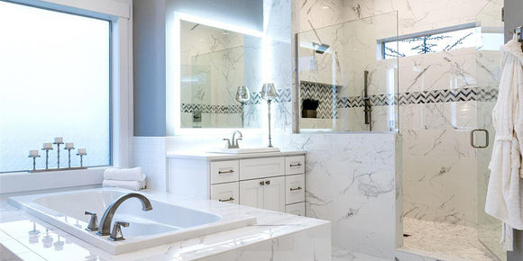 Led Lighted Vanity Mirrors Bathroom Mirrors And Medicine Cabinets Mirrors Marble
