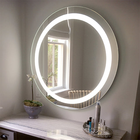 Shop Round Front Lighted Led Mirrors Mirrors And Marble