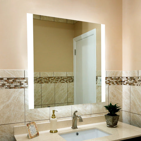Shop Rectangular Side-Lighted Vertical LED Bar Mirrors