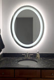 LED Bathroom Vanity Mirror Oval Front Lighted 30x36 B