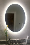 LED Bathroom Vanity Mirror Oval Side Lighted 20x28 E
