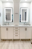 LED Bathroom Vanity Mirror Rectangular Front Lighted 24x40 C
