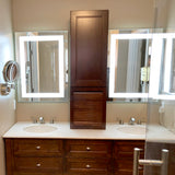 LED Bathroom Vanity Mirror Rectangular Front Lighted 44x48 F