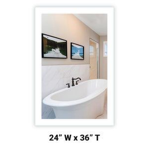 LED Bathroom Vanity Mirror Rectangular Side Lighted 24x36 A