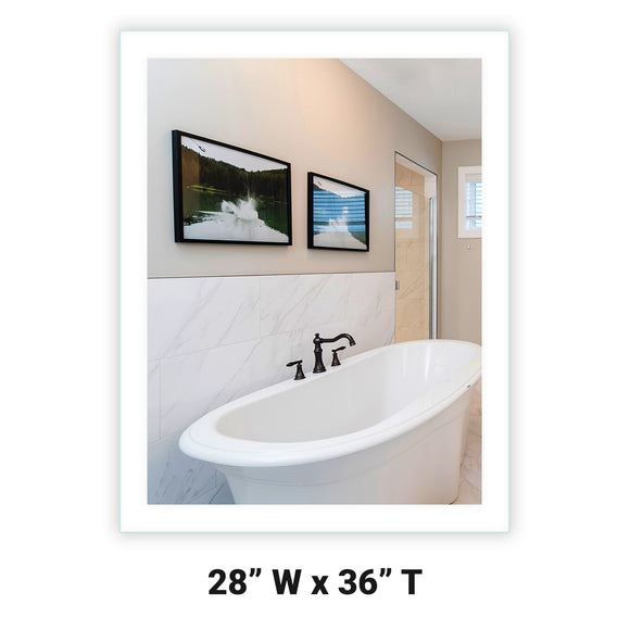 LED Bathroom Vanity Mirror Rectangular Side Lighted 28x36 A