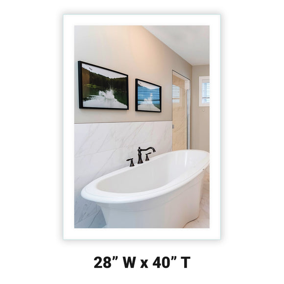 LED Bathroom Vanity Mirror Rectangular Side Lighted 28x40 A