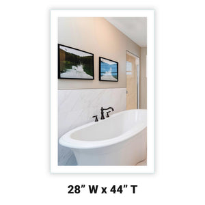 LED Bathroom Vanity Mirror Rectangular Side Lighted 28x44 A