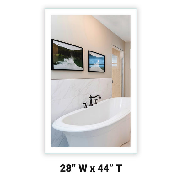 Side-Lighted LED Bathroom Vanity Mirror: 28
