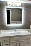 "Side-Lighted LED Bathroom Vanity Mirror: 30"" Wide x 30"" Tall - Square - Wall-Mounted"
