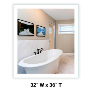 LED Bathroom Vanity Mirror Rectangular Side Lighted 32x36 A
