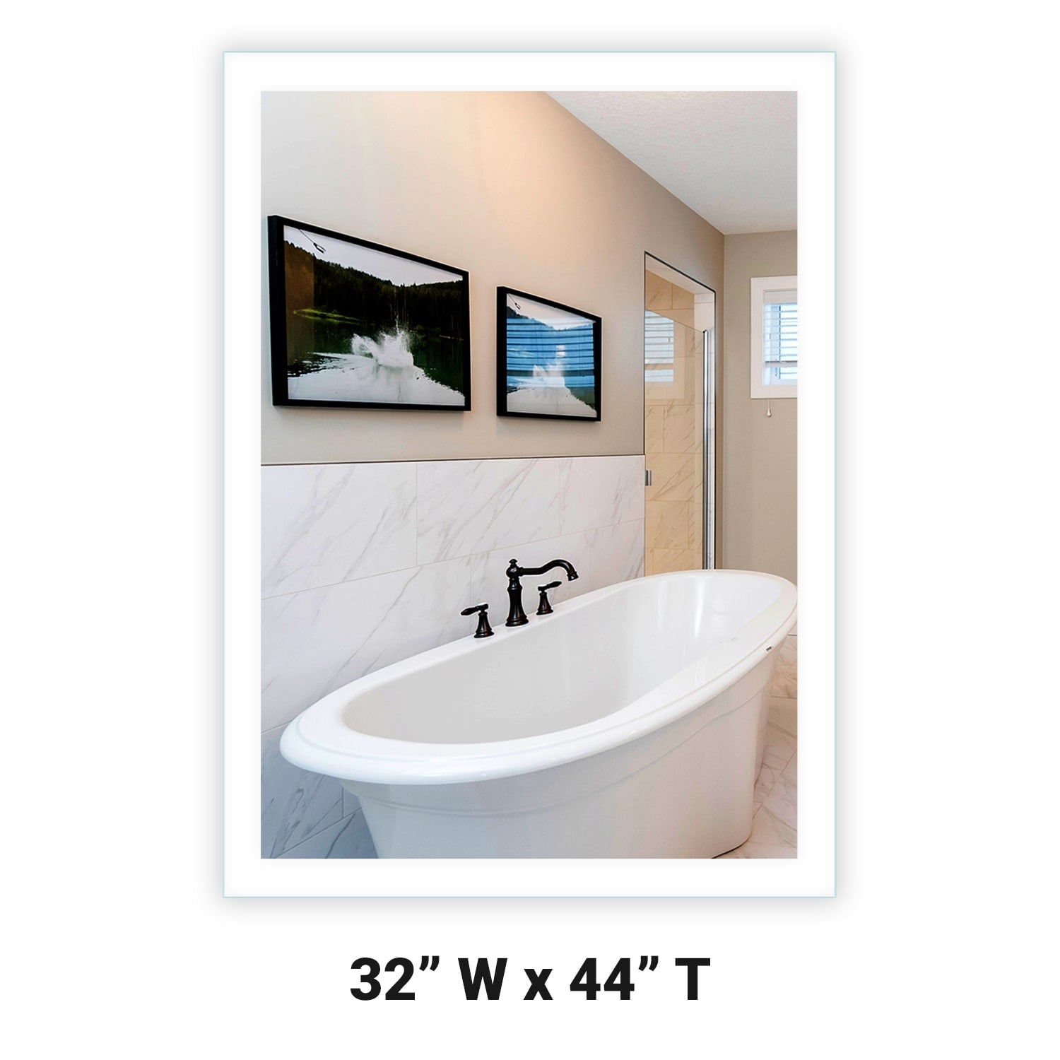 Side Lighted Led Bathroom Vanity Mirror 32 Quot X 44