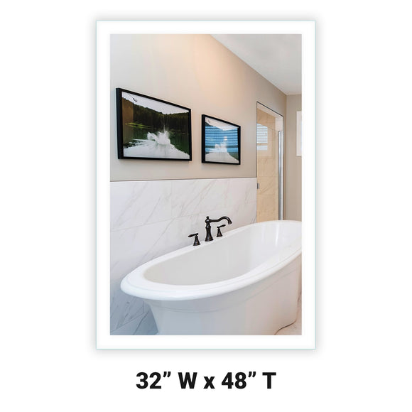 LED Bathroom Vanity Mirror Rectangular Side Lighted 32x48 A