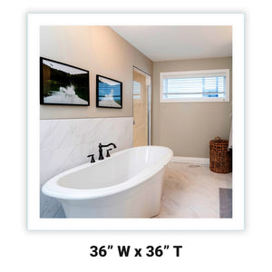 "Side-Lighted LED Bathroom Vanity Mirror: 36"" x 36"" - Square - Wall-Mounted"