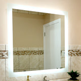 "Side-Lighted LED Bathroom Vanity Mirror: 36"" Wide x 36"" Tall - Square - Wall-Mounted"