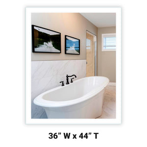 LED Bathroom Vanity Mirror Rectangular Side Lighted 36x44 A