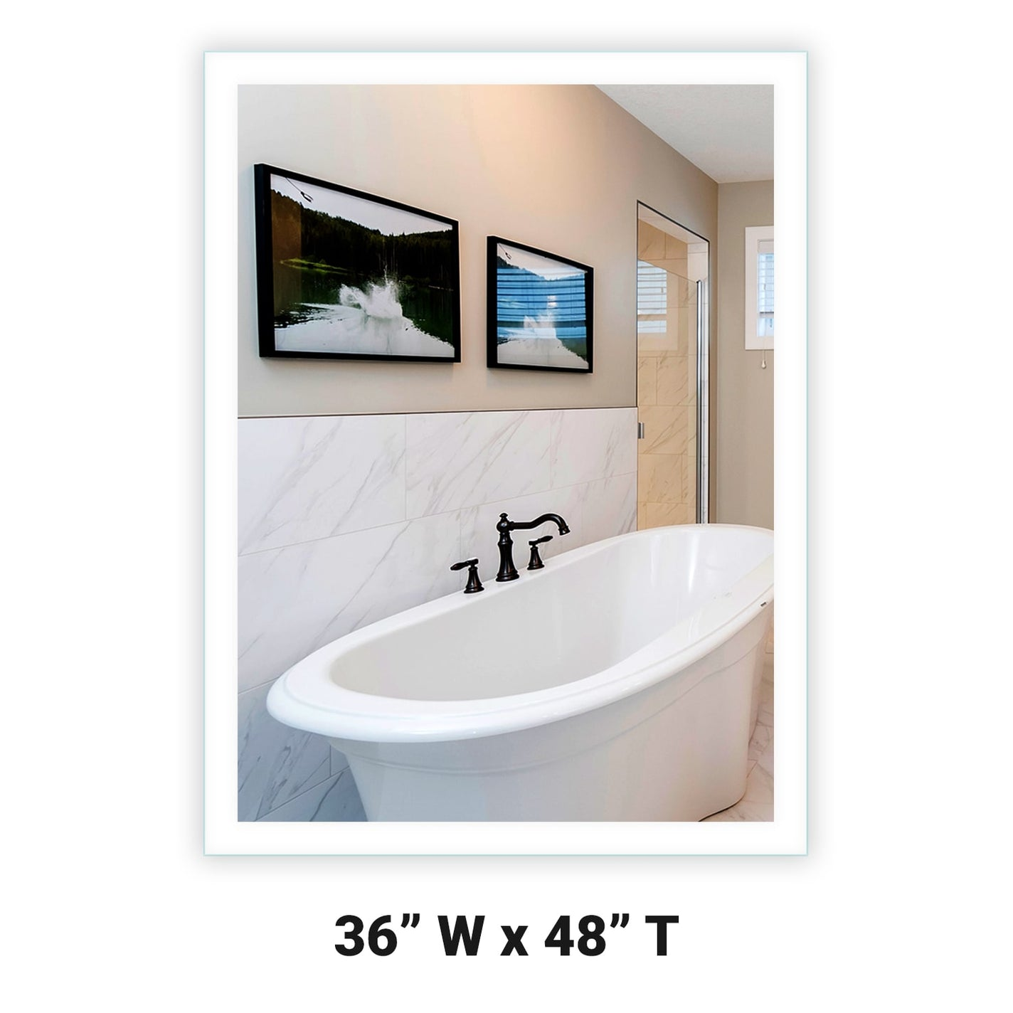 Side Lighted Led Bathroom Vanity Mirror 36 Quot X 48