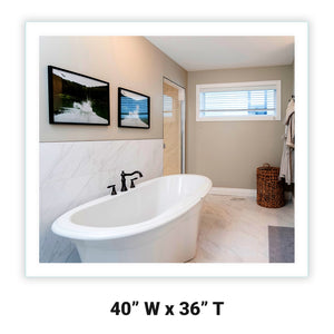 LED Bathroom Vanity Mirror Rectangular Side Lighted 40x36 A