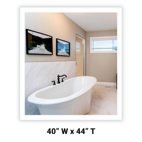LED Bathroom Vanity Mirror Rectangular Side Lighted 40x44 A