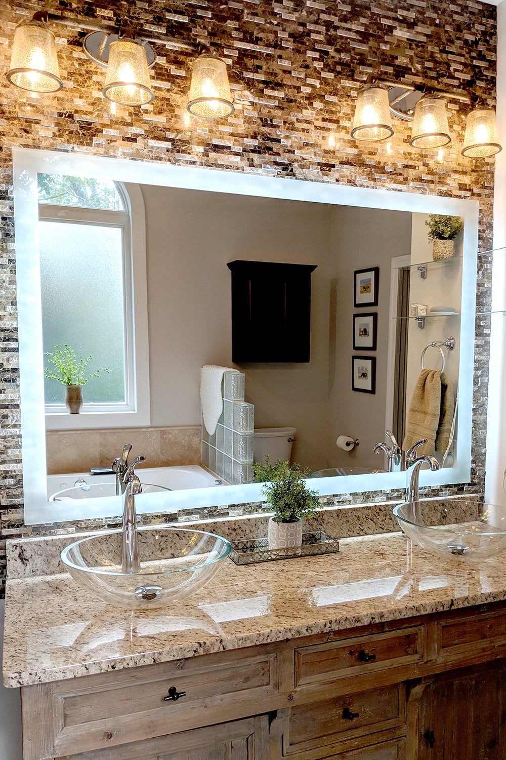 Side Lighted Led Bathroom Vanity Mirror 44 Quot X 36