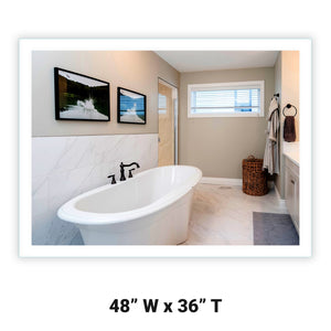 "Side-Lighted LED Bathroom Vanity Mirror: 48"" x 36"" - Rectangular - Wall-Mounted"