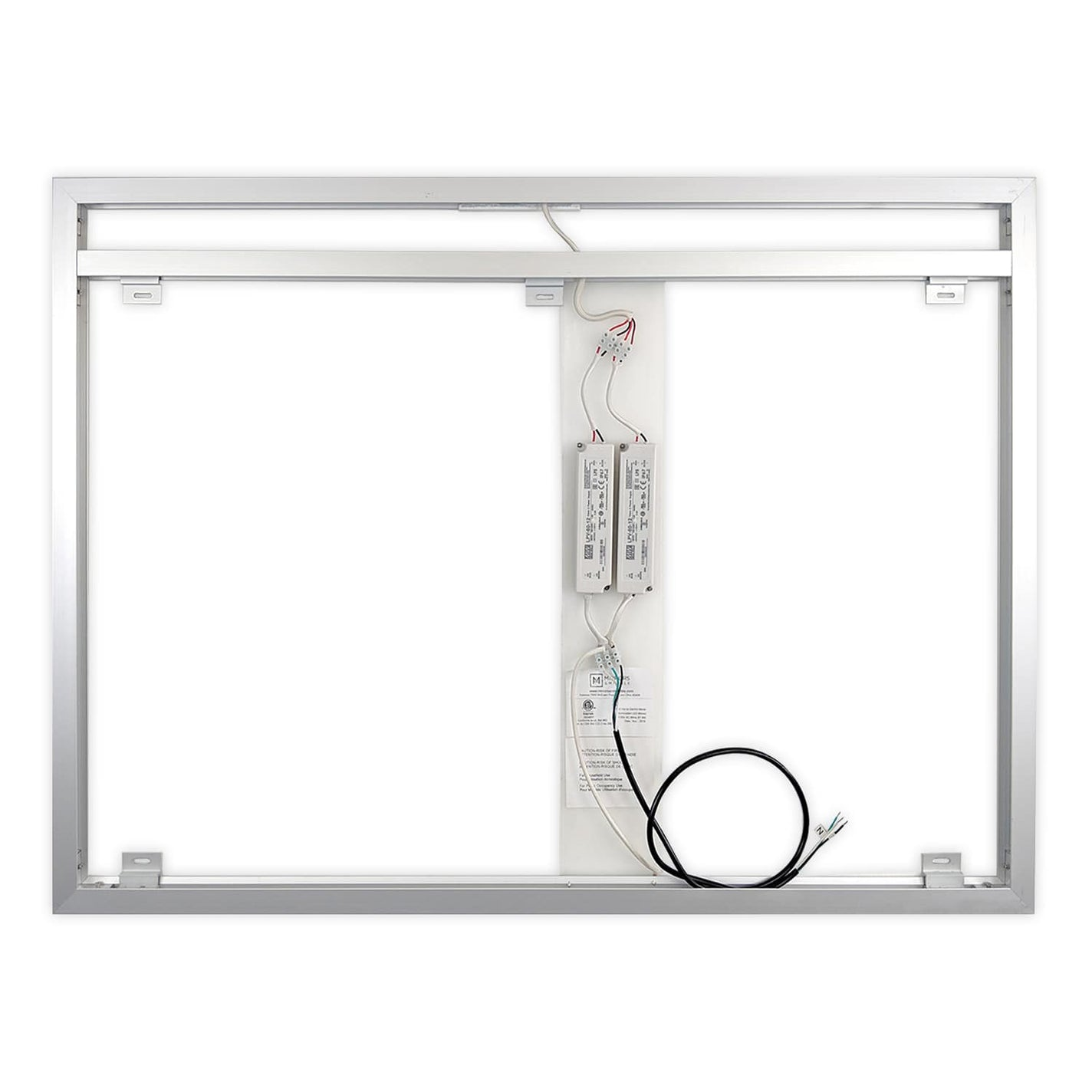 "Side-Lighted LED Bathroom Vanity Mirror: 48"" x 36 ..."