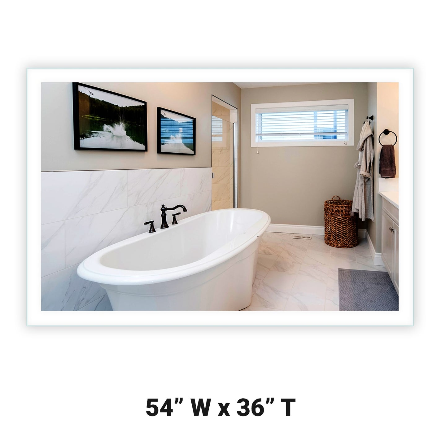 Side Lighted Led Bathroom Vanity Mirror 54 Quot X 36