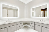 "Side-Lighted LED Bathroom Vanity Mirror: 54"" Wide x 36"" Tall - Rectangular - Wall-Mounted"
