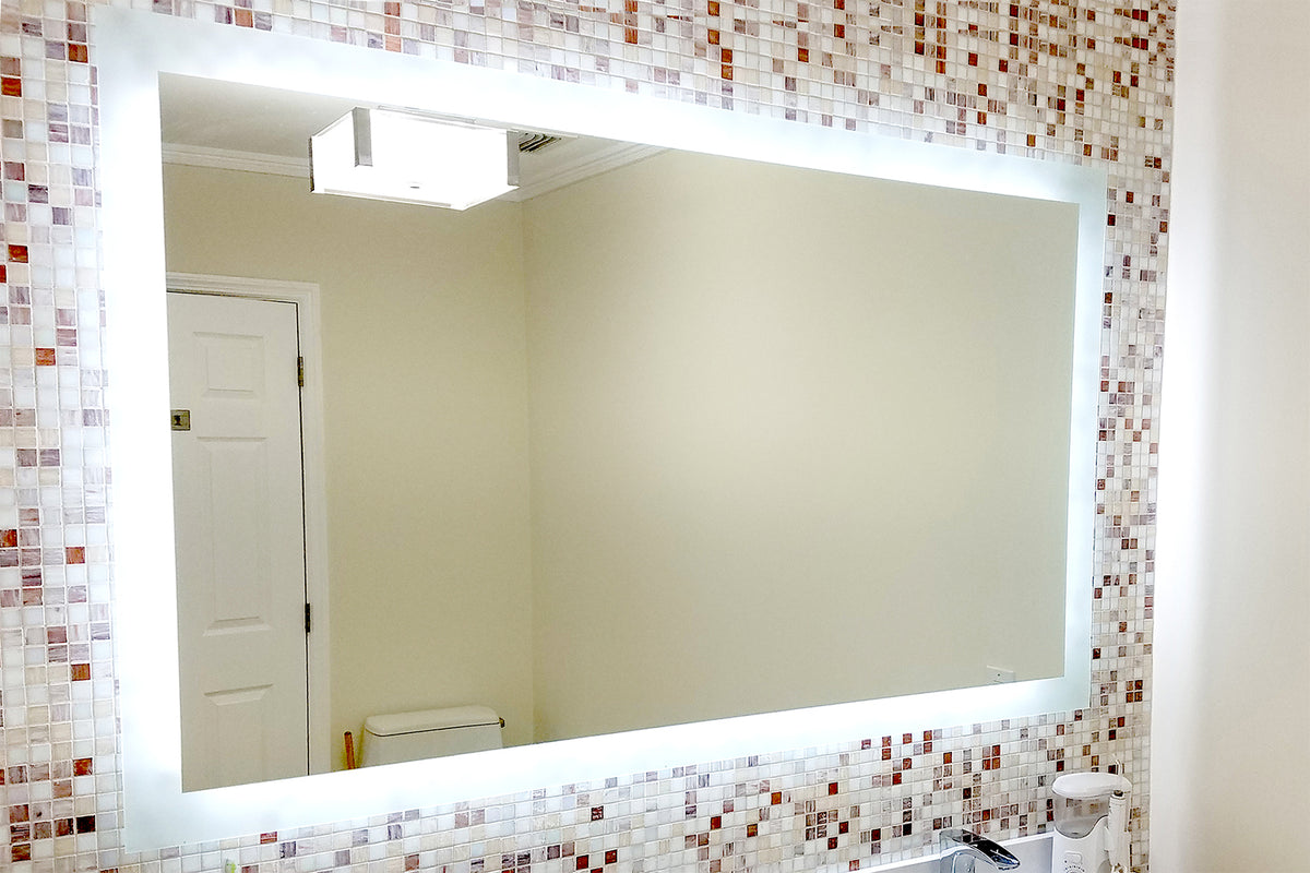 Side Lighted Led Bathroom Vanity Mirror 60 Quot X 36