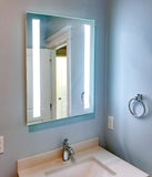 "Front-Lighted LED Bathroom Vanity Mirror: 24"" Wide x 32"" Tall - Rectangular - Vertical LED Bars - Wall-Mounted"