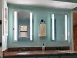 "Front-Lighted LED Bathroom Vanity Mirror: 24"" Wide x 36"" Tall - Rectangular - Vertical LED Bars - Wall-Mounted"