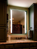 "Front-Lighted LED Bathroom Vanity Mirror: 36"" Wide x 48"" Tall - Rectangular - Vertical LED Bars - Wall-Mounted"
