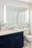 "Front-Lighted LED Bathroom Vanity Mirror: 72"" Wide x 36"" Tall - Rectangular - Vertical LED Bars - Wall-Mounted"