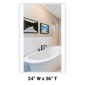 "24"" Wide x 36"" Tall - Side-Lighted LED Bathroom Vanity Mirror - Rectangular - Vertical LED Bars - Wall-Mounted"